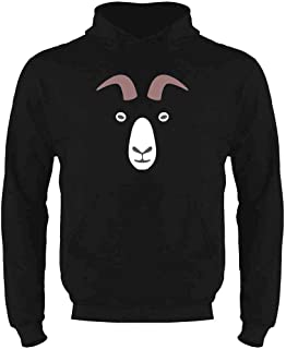 Goat Big Animal Face Cute Funny Mens Fleece Hoodie Sweatshirt