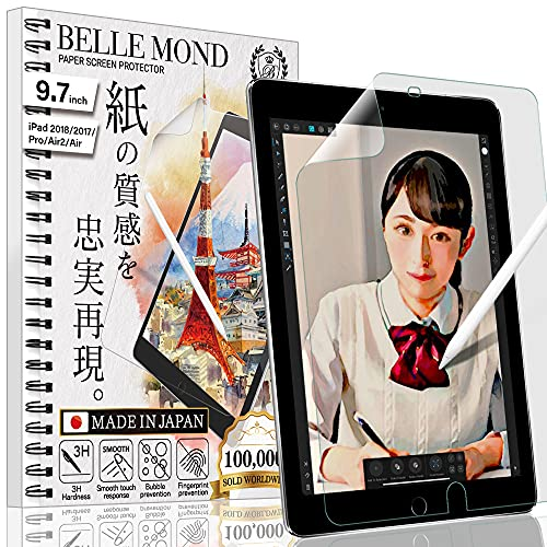 BELLEMOND - Exclusively Made in Japan - Paper Screen Protector compatible with iPad Pro 11' (2020/2018) - Write, Draw & Sketch with the Apple Pencil as if using on Paper - 1 pc WIPD11PL10