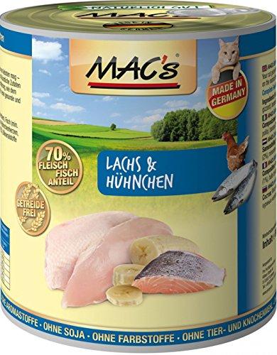MACs Cat Lachs & Hühnchen | 6x800g Katzenfutter