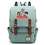 Hydxsjh Fairy Tail Mochila para Portátil De 16 Pulgadas Vintage para Portátil Anime Backpack Cartoon Animation,H