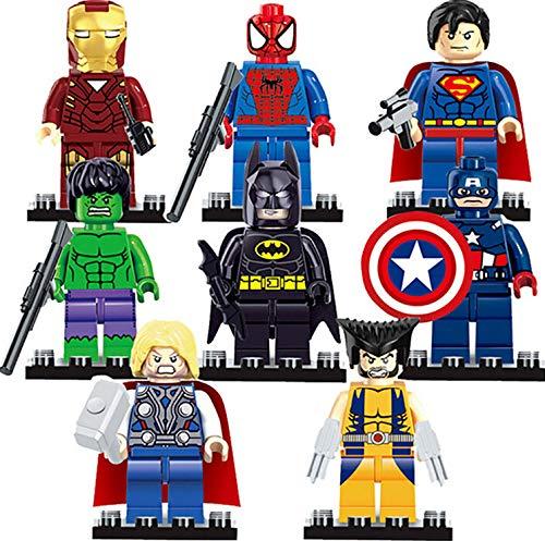 8pcs Superhero Mini Building Block …