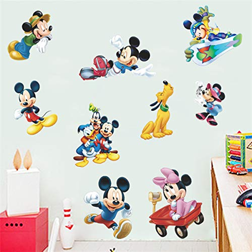 Mickey Mouse Sticker Children's Cartoon Bedroom Background Wall Decoration Self-Adhesive Wall Sticker PVC