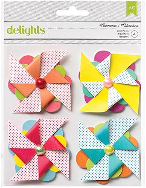 American Crafts 4Piece Summer Pinwheels, Adventure