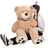 MaoGoLan Giant Teddy Bears Large Plush Stuffed Animals Toy with Footprints Big Teddy Bear for Girlfriend Children 39 Inch,Light Brown