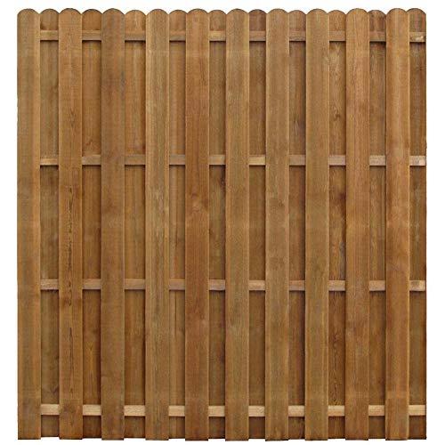 Estink - Pannello di recinzione in legno per giardino, recinzione in pino impregnato, 170 x 170 cm