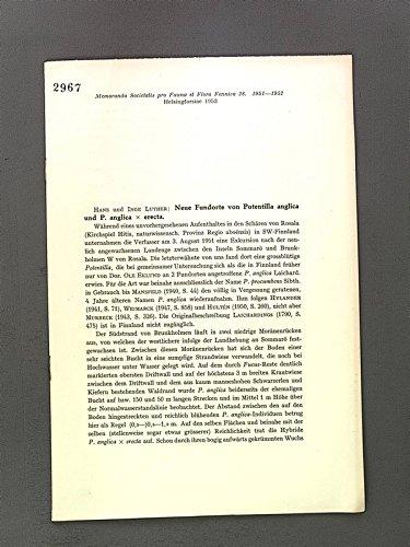 Neue Fundorte von Potentilla anglica und P. anglica x erecta.