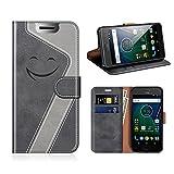 MOBESV Smiley Portefeuille Motorola Moto G5, Coque Cuir Motorola Moto G5 Magnétique Étui Housse...