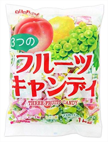 扇雀飴 3つのフルーツキャンディ 1kg