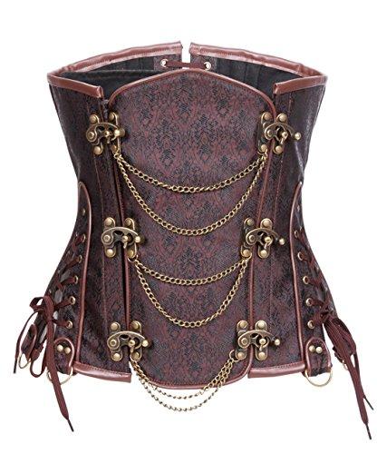 Bslingerie® Women Steampunk Steel Boned Underbust Corset