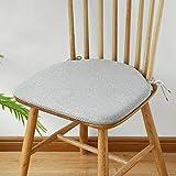 Mesa de comedor con forma de herradura y cojín para silla, Silla Windsor de lino con correa Cojín antideslizante, Cojín con relleno de espuma de memoria de alto rebote, 42 cm x 38 cm (color : Gray)