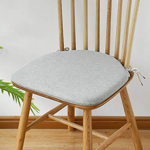 Mesa de comedor con forma de herradura y cojín para silla, Silla Windsor de lino con correa Cojín antideslizante, Cojín con relleno de espuma de memoria de alto rebote, 42 cm x 38 cm ( color : Gray )