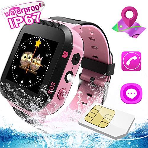 Kids Smartwatch, Smartwatch per ragazze e ragazzi, localizzazione LBS, messaggio vocale/di testo,Telecamera, SOS, allarmi, torcia elettrica, giochi matematici, orologio per bambini