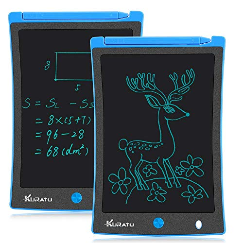 Blue Great Learning Toys and Gifts for Boys Girls Big Size Colorful Bright Lines Drawing Tablet for Kids GUYUCOM LCD Writing Tablet 12 Inch Doodle Pads for Kids