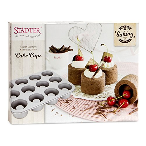 Städter 661073 We Love Baking Backform, Metall, Silber