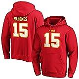 Fanatics Sudadera con capucha NFL Kansas City Chiefs Patrick Mahomes #15 rojo Iconic Sweater (XXL)