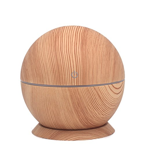 Humidificador Aromaterapia Difusor de Aceites Esenciales Difusores de Aroma Purificador de Aire Ultrasónico con Luz de Noche de 7 Colores para Yoga SPA Hogar Oficina Habitación Dormitorio y Baño