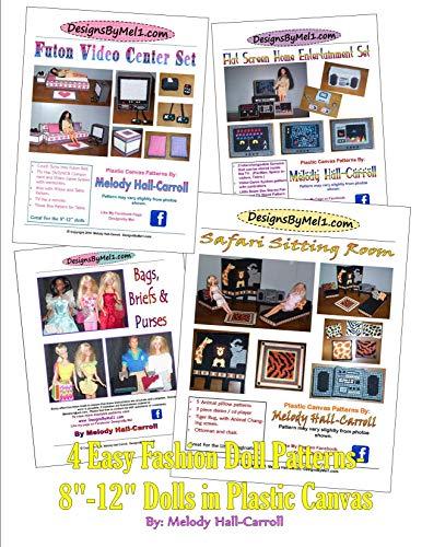 4 Easy Fashion Doll Patterns: 8-12' Dolls In Plastic Canvas (DesignsByMel Book 7) (English Edition)