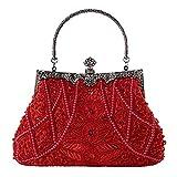 Snow scene Bolsa de Vestido de Noche de Mano de Mujer, Novia de Boda y Vestido de Vestido de Dama de Honor (Color : Rojo)