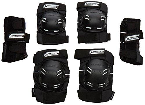 Powerslide Herren Schoner Standard Tri-Pack, Schwarz, XL