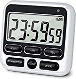Upgraded Digital Kitchen Timer, ON/OFF Switch, 12/24 Hour Clock and Silent Timers, Count
