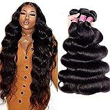 Brazilian Body Wave Hair (18 20 22 Inch) 100% Unprocessed Brazilian Virgin Human Hair Bundles Natural Color Body Wave Human Hair Bundles 10A Brazilian Body Wave 3 Bundles