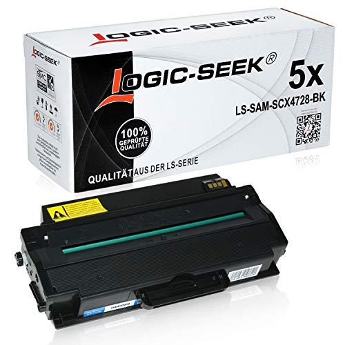 5 Toner kompatibel für Samsung MLTD-103 für Samsung ML-2950NDR 2951D ML-2955DW FW ND SCX-4726FN SCX-4728FD FW SCX-4729FD FWX - MLT-D103L/ELS - Schwarz je 2.500 Seiten
