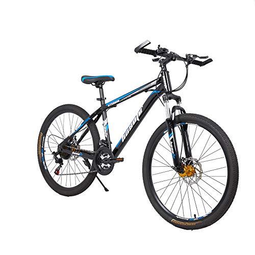 26 inch 3 Spoke Folding Stone Road Bike Aluminum Frame Outdoor Cycling Carbon Steel Road MTB 20-inch Wheels Photno Mountain Bike Single or 7-Speed Drivetrain for Men Women【Shipping from US】