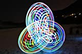 willway 32 inch LED Hoop, 18 Color Strobing and Changing Hoop for Kids and Adults - Lightweight &...