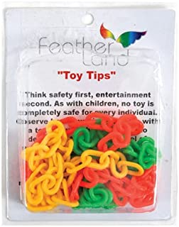 Paradise 1-Inch Plastic Chain Bird Toy, 8/pack