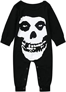 LowProfile Toddler Kids Girls Halloween Short Sleeve Dresses Skull Print Mini Dress Gothic Punk Style Princess Dress(6M-4T)