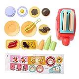 iiniim Küchenspielzeug Küche Pretend Spielzeug Toaster/Entsafter/Reis Kocher/Waschmaschine/Mikrowelle/Staubsauger Kinder Rollenspiel Küchengerät Set Toaster Einheitsgröße