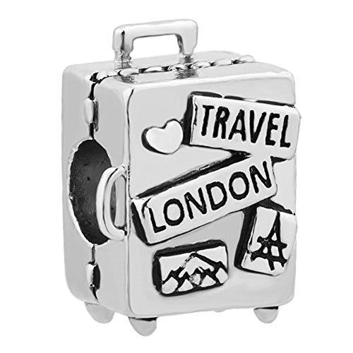 UNIQUEEN Love to Travel London Trunk Charms Fit European Charm Bracelet