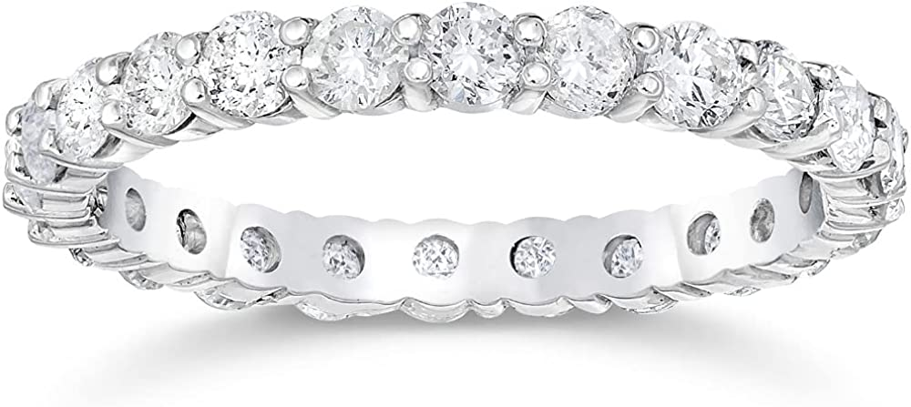 1 2 Ct Diamond Luxury goods Import Eternity Ring Gold 14k Women's Stackable White