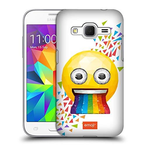 Head Case Designs Ufficiale Emoji Rainbow Poligono Cover Dura per Parte Posteriore Compatibile con Samsung Galaxy Core Prime