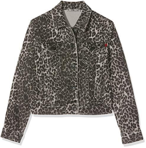 LTB Jeans Mädchen Dean X G Jacke, Mehrfarbig (Grey Leopard X Wash 51973), 152 (Herstellergröße: 12)