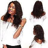 Human Hair Wig Lace Front Perücke Echthaar Wigs for Black Women Brasilianische Haare Naturschwarz #1B Deep Wave mit Baby Hair für Frauen 30cm-130g