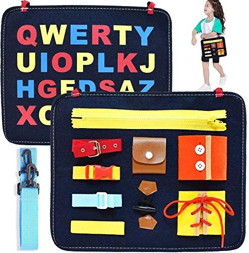 HUADADA Montessori Spielzeug ,Beschäftigtes Board für Kleinkinder,Basic Motor Skills Activity Board...