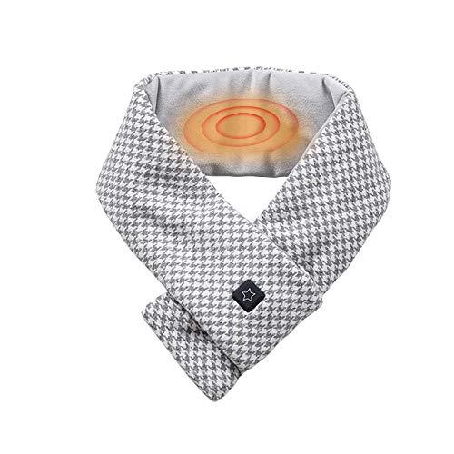 USB beheizter Schal mit 3 Stufen Einstellbarer Temperatur, Unisex Electric Warm Soft Cotton Winddichter beheizter...