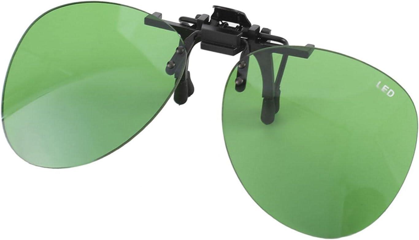 LOVOICE 1 par de gafas para interior Grow Room LED, lentes contra rayos UV, gafas de protección para jardín, invernaderos, hidropónicos