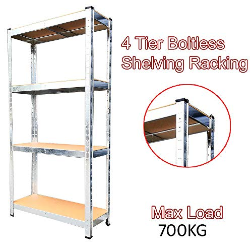 TAHA  (1500 x 750 x 300) mm heavy duty boltless metal steel shelving shelves storage unit Industrial easy to assemble (150X75X30cm) 175KG Per Shelf