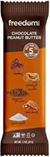 Freedom Bar, Healthy Fruit and Nut Bar - Dairy and Gluten Free, Organic Energy Snack - 15 Bars, Chocolate Peanut Butter Flavor