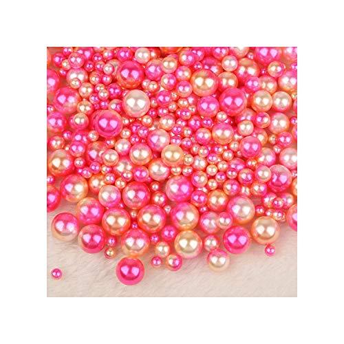 250pcs Mix-ABS runde nachgemachte Perlen-loses Korn Keines Loch für DIY Kleid Kleidung Schuhe Perlen Zubehör Zubehör, Style08
