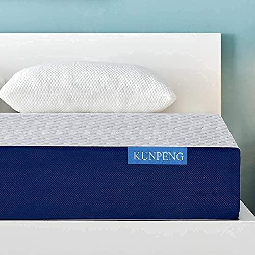 Bed Mattress Cooling Gel Memory Foam Mattress 10 Inch | Bed Mattress in a Box Medium Firm CertiPUR-US | Relieve Stress KUNPENG Bed