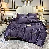 yaonuli Einfache einfarbige vierteilige Baumwollbett Trampolin Produkt Kaiser lila 1,5-1,8 m breites...