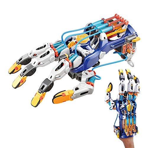 Hydraulic Robotic Arm Kit Learn Hydro Mechanics and Robotics, Adjustable for Different Hand Sizes, Amazing Gripping Capabilities, for Girls Boys Kids 10+
