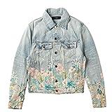 AMIRI(アミリ) ジャケット メンズ Floral Leaf Trucker Jacket デニムジャケット LIGHT INDIGO F0M04173RD-0001-0006 [並行輸入品]
