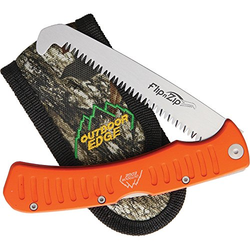 OUTDOOR EDGE Flip n' Zip Saw Scie Pliable Mixte Adulte, Orange/Gris, 81 mm