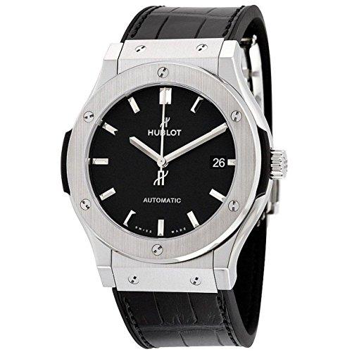 Hublot Herren-Armbanduhr 45mm Armband Aligatorleder Schwarz Gehäuse Titan Automatik Analog 511.NX.1171.LR