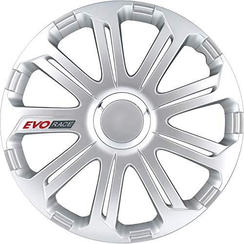 Jeu d'enjoliveurs EVO Race 14-inch argent/anneau chromé/logo