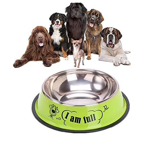 Kat Water Kom Puppy Kommen Kleine Huisdier Kommen Voor Honden Hond Kommen Voor Middelgrote Honden Hondenvoer Kom Hond Kom Roestvrij Kat Kom Set green,m-22cm